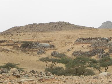Vista del villaggio di Elygit , Stato di Red Sea