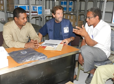 Alberto Bortolan, director of Italian Cooperation in Sudan (in the center)