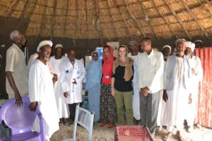 A picture of the Italian Cooperation team, the Medical Officer and the people of the locality*