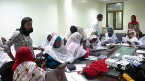 i participanti durante il training