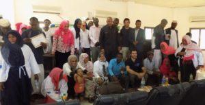 Staff CI insieme ai partecipanti del corso a Sinkat