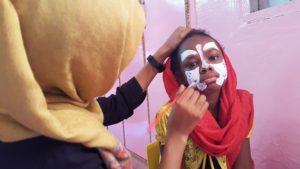 Face Painting, una delle attivita' del giorno dell'inaugurazione