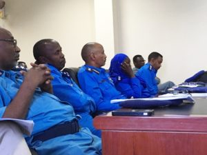 Members of the Sudanese police, during the training session
