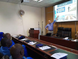 Andrew Gray from IOM during the presentation