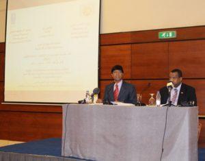 Selva Ramchandran, Rappresentante Paese di  UNDP,  e il  Dott. Kamal Hassan Ali, Ministro per la  Cooperazione Internazionale, aprono la cerimonia con brevi discorsi
